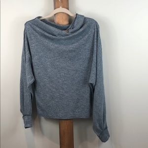 We The Free slouchy washed blue sweater